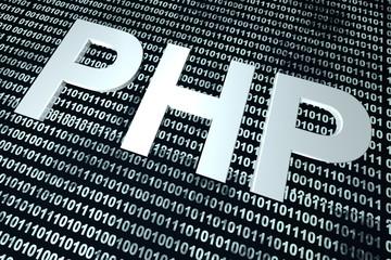 PHP binary code background.
