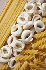 Italian pasta close up