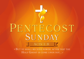 Pentecost sunday sunrise card
