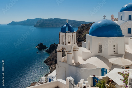 Leinwanddruck Bild Panorama a Santorini 10
