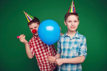 Twins on birthday