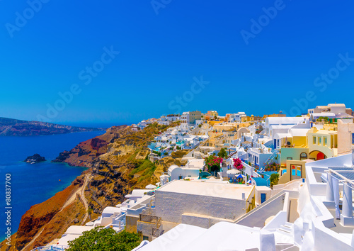 Oia is the most beautiful village of Santorini island in Greece © imagIN photography