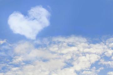 heart against the blue sky