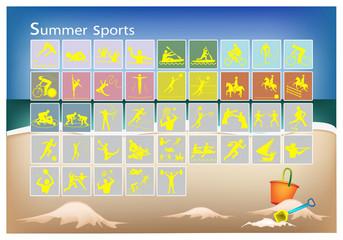 A Mega Set of 41 Summer Sport Icons