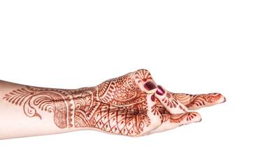 Back mudra with henna