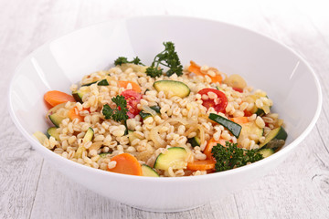 barley and vegetables