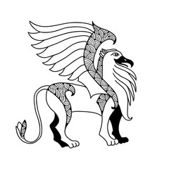Mythological Griffin. The series of mythological creatures