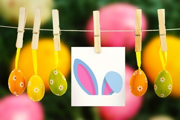 Composite image of easter bunny ears