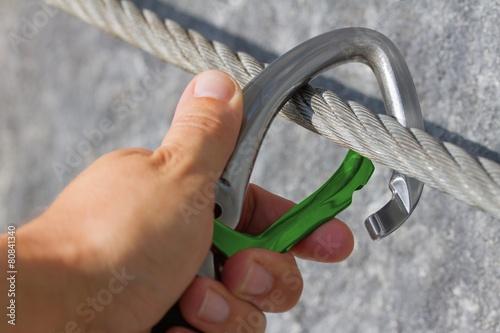 Plexiglas Alpinisme Karabiner - Konzept Sicherung