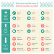 body health vector infographic illustration ,drink, water icon, - 80841923