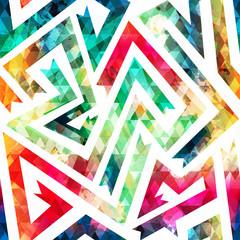 vintage maze seamless pattern