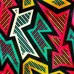 bright geometric seamless pattern