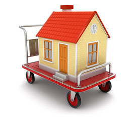 House and Handtruck (clipping path included)