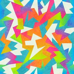 rainbow colored mosaic seamless pattern