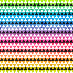 rainbow colored triangle seamless pattern