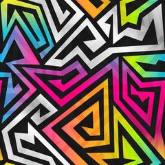 rainbow maze seamless pattern