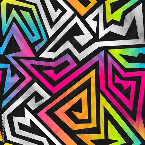 Fotobehang Kunstmatig rainbow maze seamless pattern