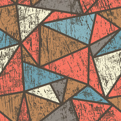 triangle seamless pattern with wood effect