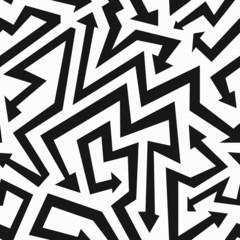 monochrome arrows seamless pattern