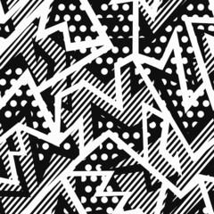 monochrome cloth seamless pattern