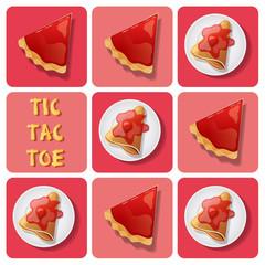 Tic-Tac-Toe of crepe and tart
