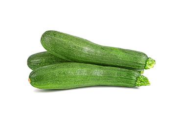 whole cucumber isolated on white background