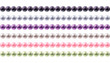 Colorful round pearls borders set. - 80843356