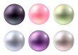 Set of colorful pearls. Jewelry gemstones. - 80843357