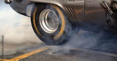 Foto op Plexiglas Motorsport Burn Out Reifen