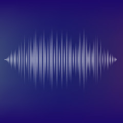 Waveform background isolated. Black and white halftone vector