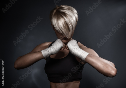 Poster Sporty athletic woman