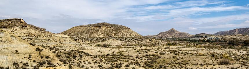 Panorama Wüste Tabernas in Andalusien