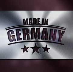 MADE IN GERMANY-Platte Stern- METALL D