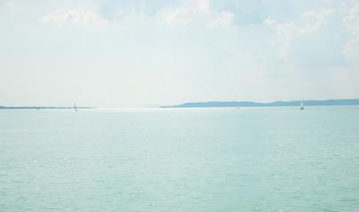 The view of Lake Balaton Hungary