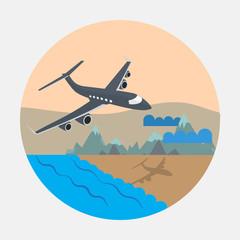 Plane. Vector design. EPS10