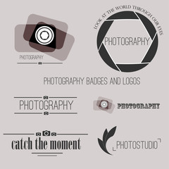 Vector collection of photography logo templates. Photocam