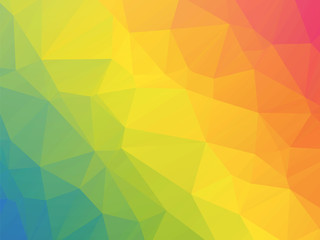 modern rainbow colored triangular background