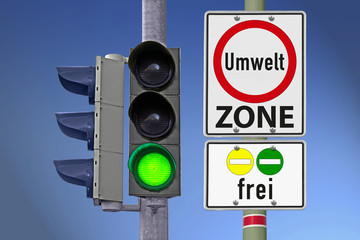 Umweltzone frei für Gelb und Grün