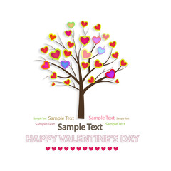Vector illustration of a love tree. Happy Valentine's Day.