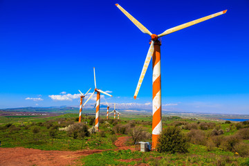 Golan Heights and modern windmills