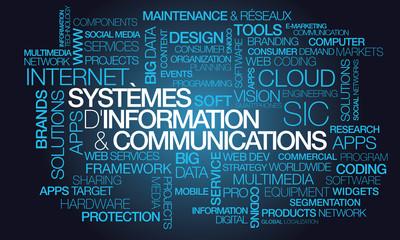 Systèmes d'information et de communications nuage de mots