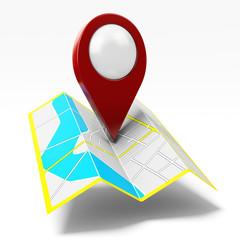 Mappa stradale con puntatore