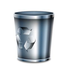 Recycle bin icon, vector illustration