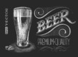 Poster of beer on the chalkboard - 80850389