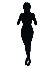 Contrast silhouette of a girl