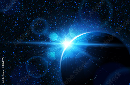 Planet earth. Vector - 80850977