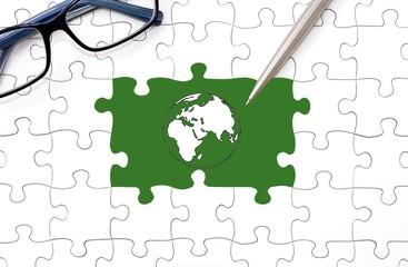 Globalisierung - Puzzlekonzept
