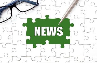 News - Konzept Puzzle