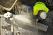 street workman repairing sidewalks and pipelines - 80851951