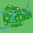 Vector golf course aerial view - 80852112